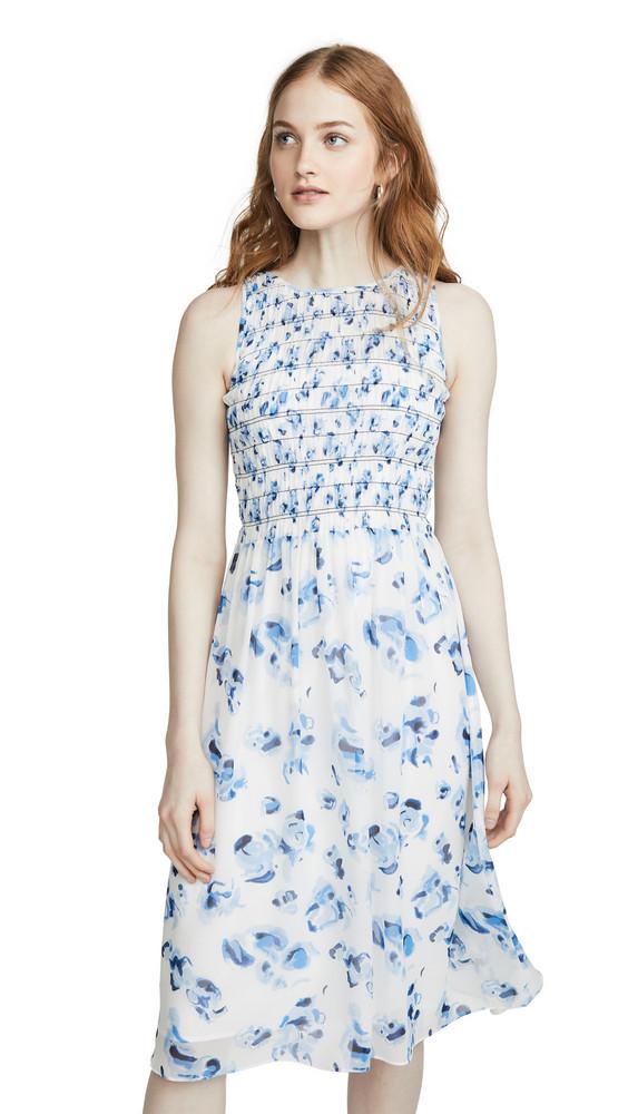 Club Monaco Feleenie Dress in white / multi