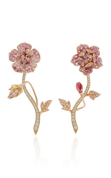Anabela Chan Geranium 18K Gold Vermeil Diamond, Sapphire Earrings in multi
