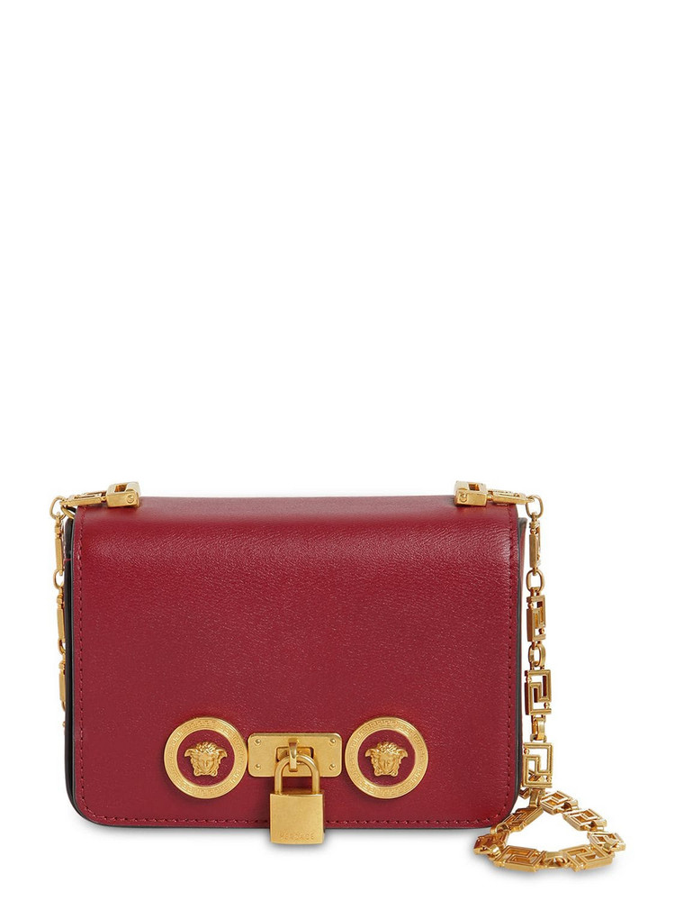 VERSACE Mini Icon Leather Bag in red