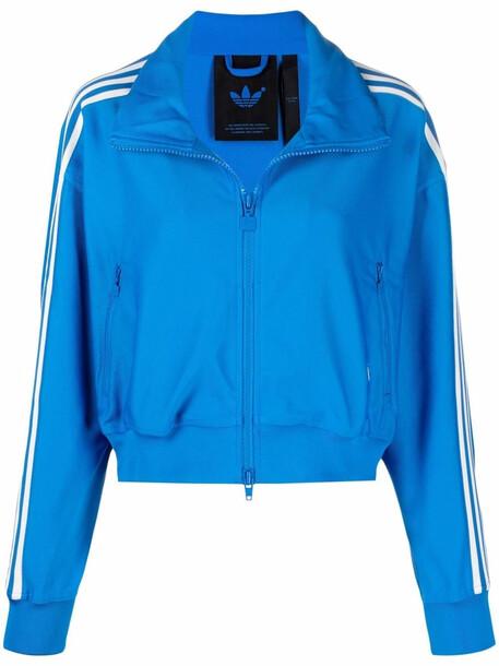 adidas signature three-stripe track jacket - Blue