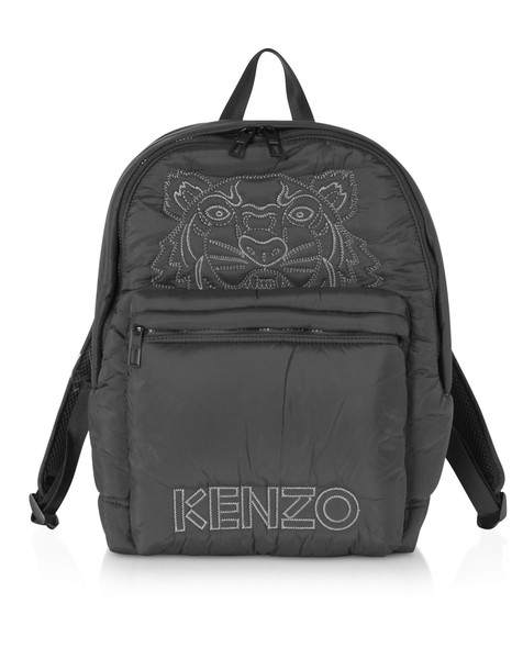 Kenzo Black Nylon Doudoune Tiger Kampus Backpack