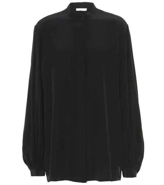 The Row Vara silk blouse in black
