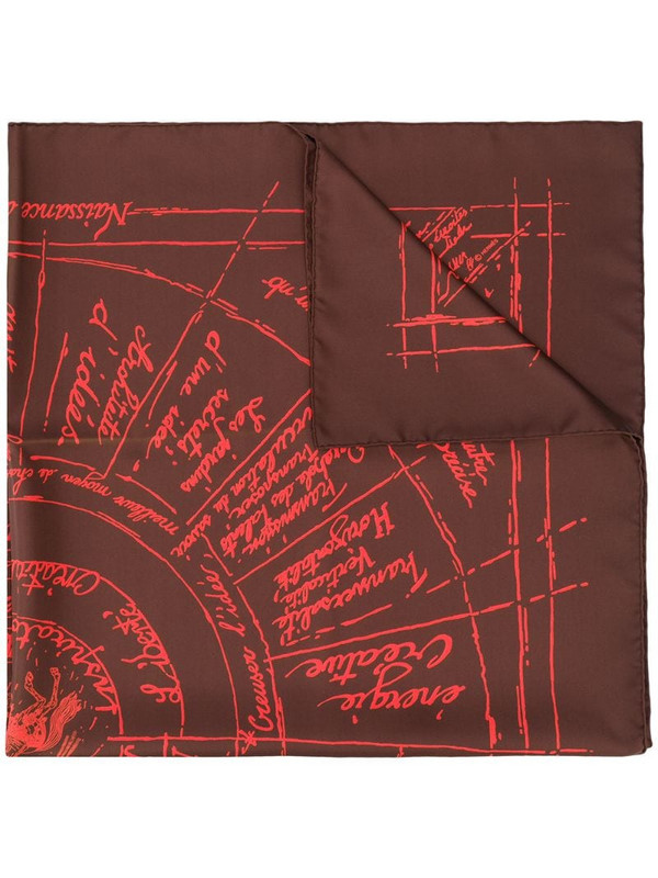 Hermès pre-owned abstract print scarf in red
