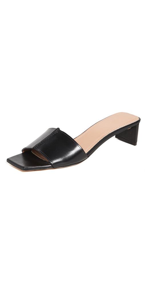 Mansur Gavriel Low Mule Sandals in black