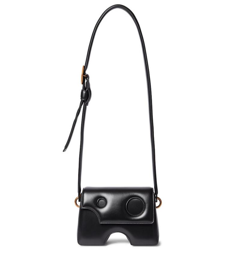 Off-White Burrow 22 leather shoulder bag in black