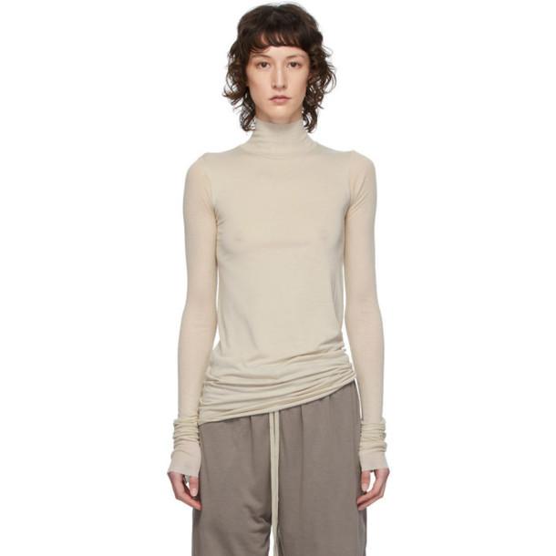 Rick Owens Lilies Grey Heavy Jersey Long Sleeve T-Shirt