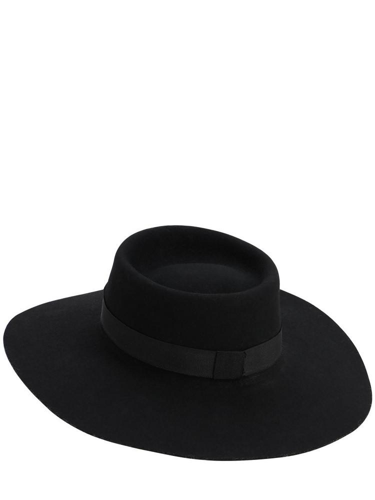 ÀCHEVAL PAMPA Gaucho Wide Brim Wool Hat in black