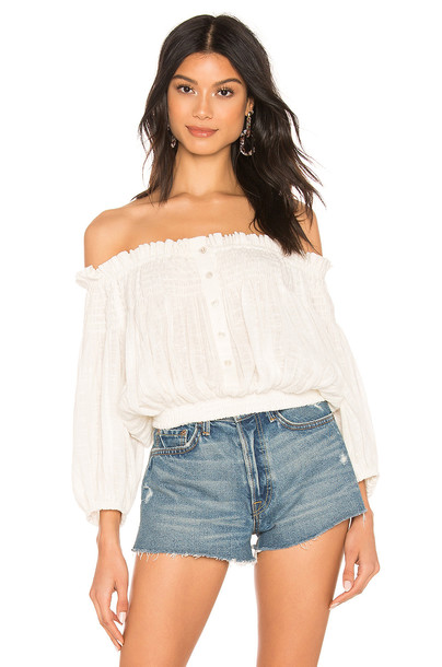 Free People Dancing Till Dawn Top in white