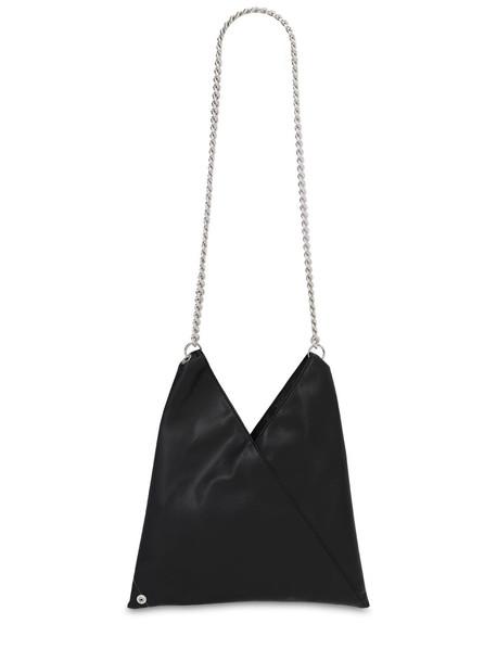 MM6 MAISON MARGIELA Faux Leather Shoulder Bag in black