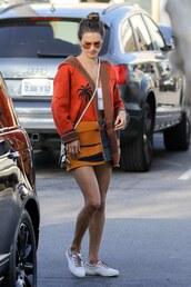 sweater,cardigan,alessandra ambrosio,model off-duty,sneakers,casual