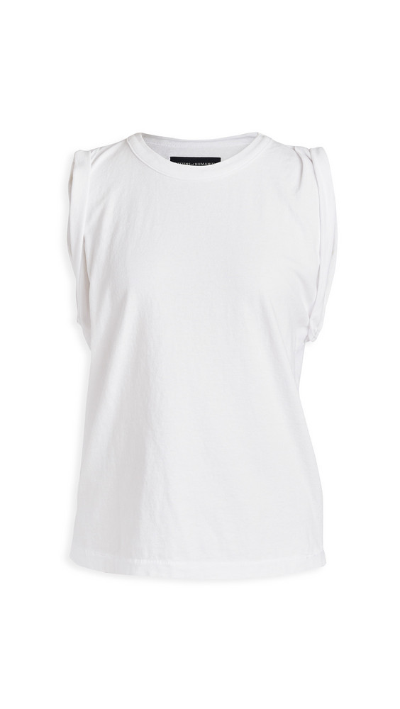 Citizens of Humanity Jordana Rolled Sleeve Tee in white