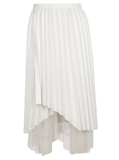 Ermanno Scervino Pleated Skirt in white
