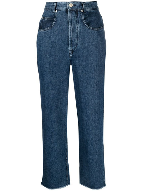 Isabel Marant high-waist cropped jeans in blue