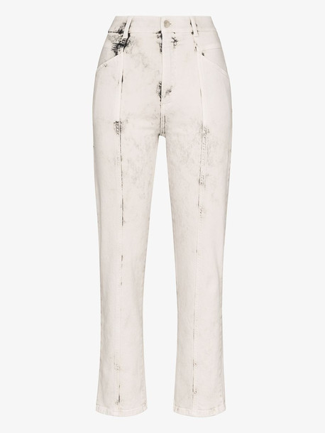 Stella McCartney stitched bleached straight jeans in grey