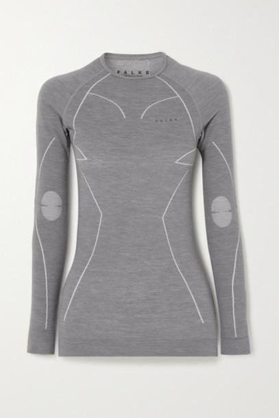 FALKE Ergonomic Sport System - Wool-blend Top - Dark gray