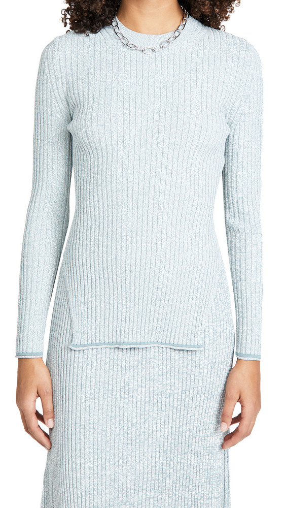 Theory Mouline Rib Pullover in blue