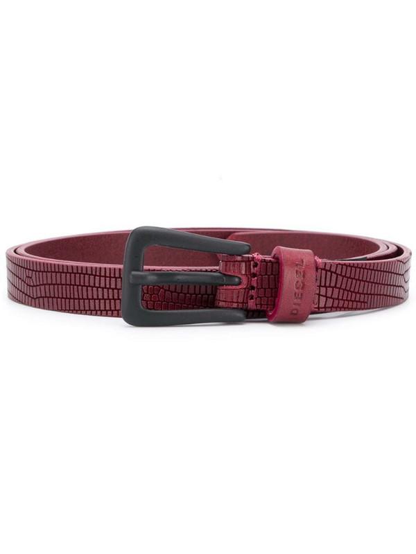 Diesel textured finish belt in red