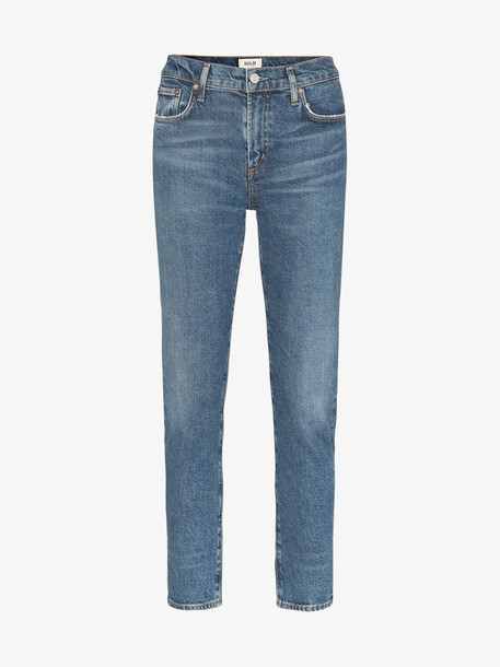 AGOLDE Toni straight leg jeans in blue