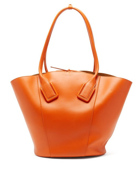 Bottega Veneta - Basket Large Leather Tote Bag - Womens - Orange