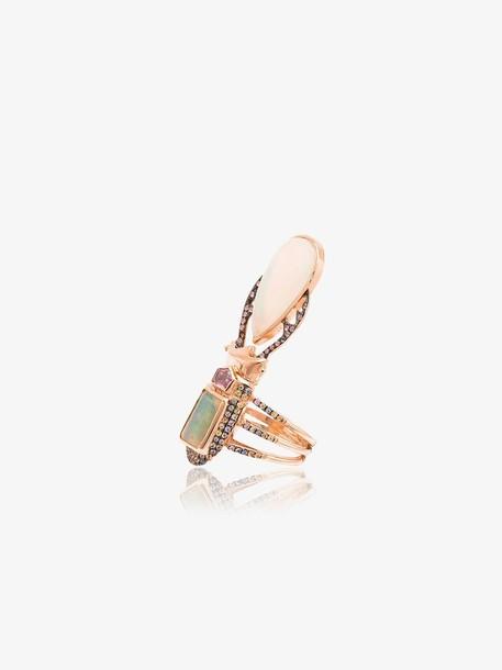 Daniela Villegas 18k rose gold Aurae opal and sapphire ring