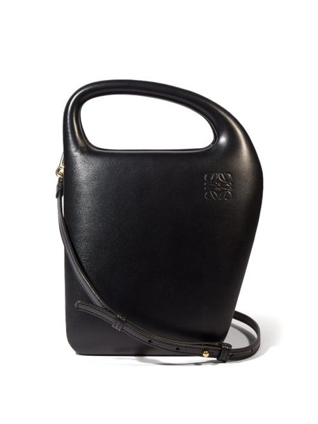 Loewe - Architects D Leather Top-handle Bag - Womens - Black