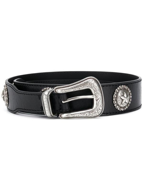 Kate Cate Regina leather belt in black