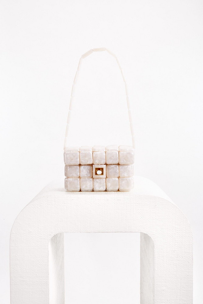 Cult Gaia Nidia Shoulder Bag - Pearl Speck (PREORDER)                                                                                               $348.00