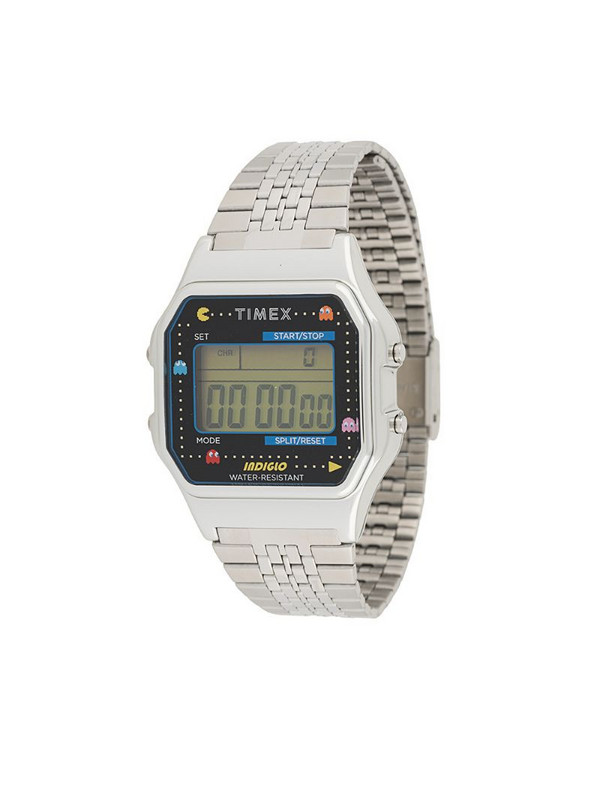 TIMEX x Pac-Man T80 34mm watch in silver