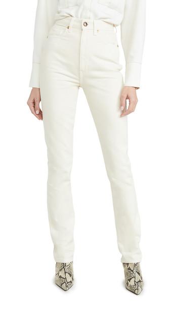 Khaite Daria Jeans in ivory