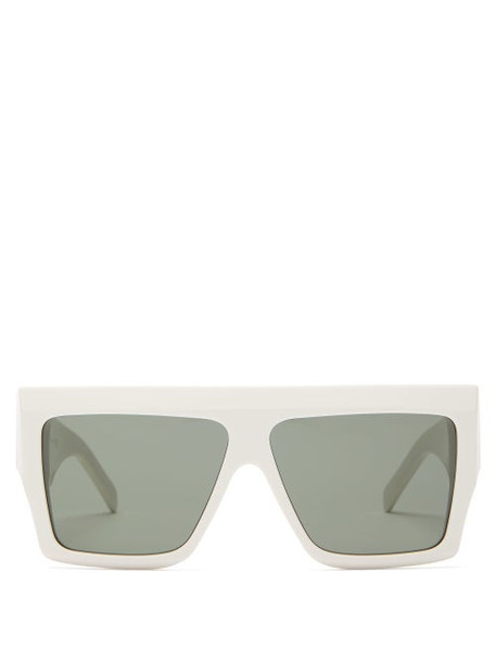 Celine Eyewear - Rectangle Acetate Sunglasses - Womens - White