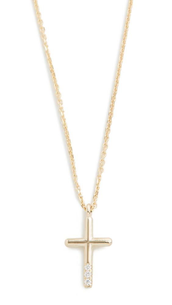 Jennie Kwon Designs 14k Diamond Cross Necklace in gold / yellow