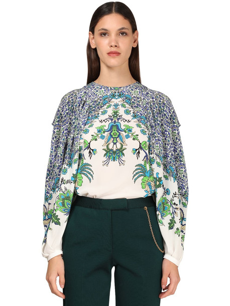 GIVENCHY Printed Silk Crepe Shirt