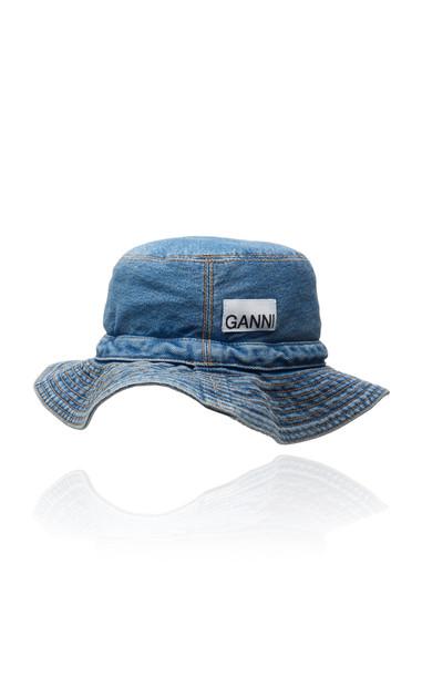 Ganni Washed Denim Bucket Hat Size: XS/S