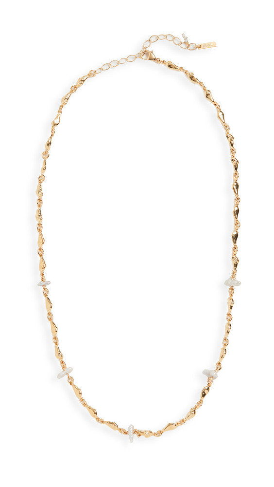 Chan Luu Pearl Necklace in grey