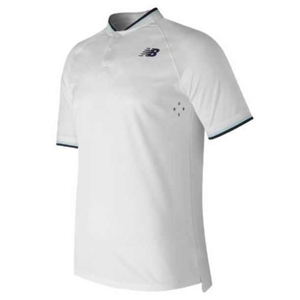 New Balance 71404 Men's Tournament Henley - White (MT71404WT)