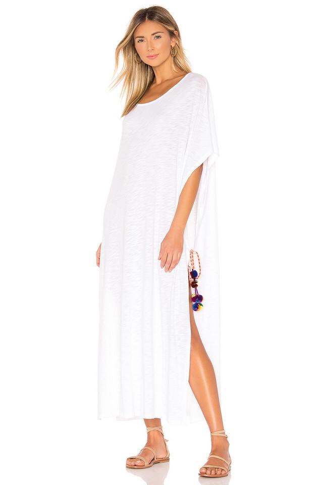 Pitusa Greek Tie Dress in white