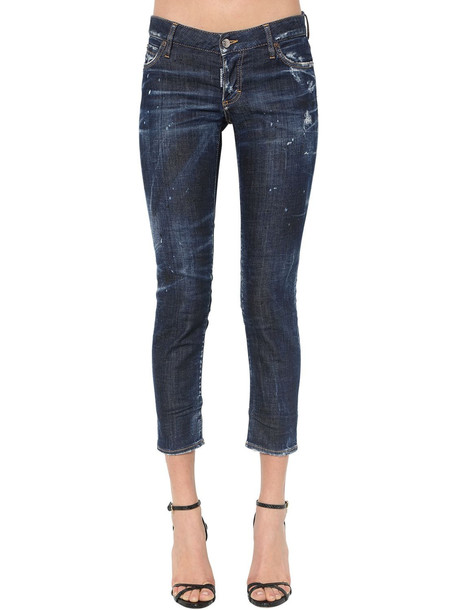 DSQUARED2 Jennifer Dark Wash Cotton Denim Jeans