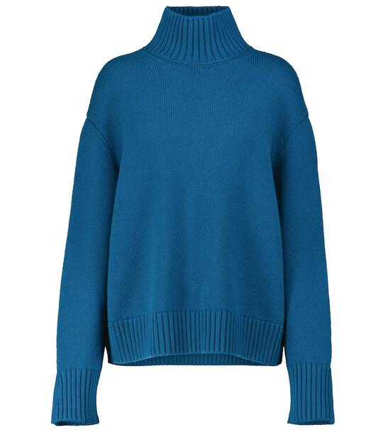 Loro Piana Parksville cashmere turtleneck sweater in blue