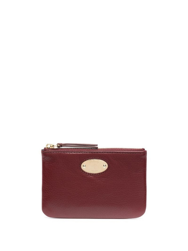 Mulberry logo coin purse in red