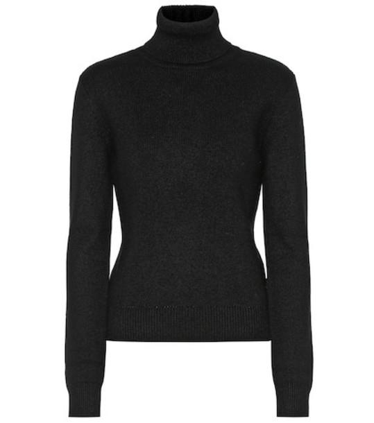 Saint Laurent Cashmere turtleneck sweater in black