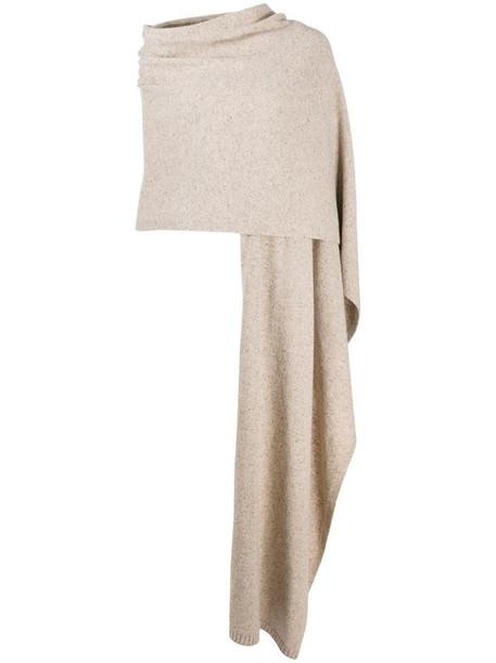 Joseph plaid tweed knit scarf in neutrals