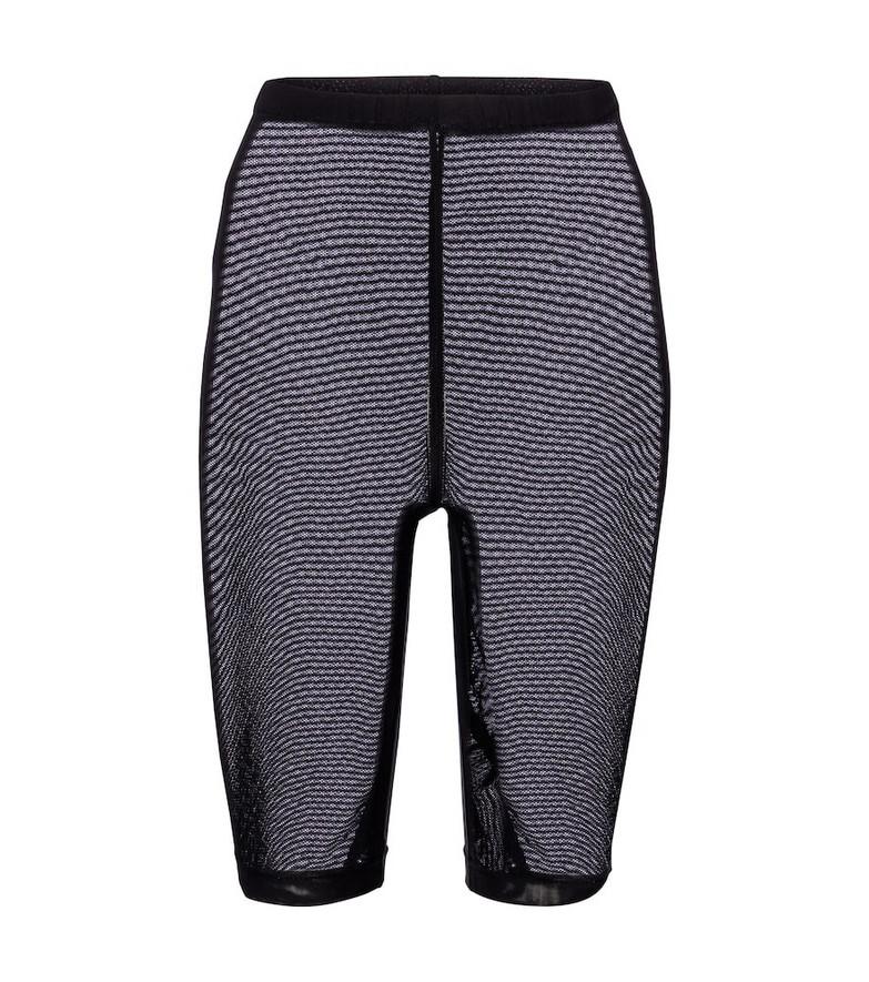 David Koma Mesh jersey shorts in black
