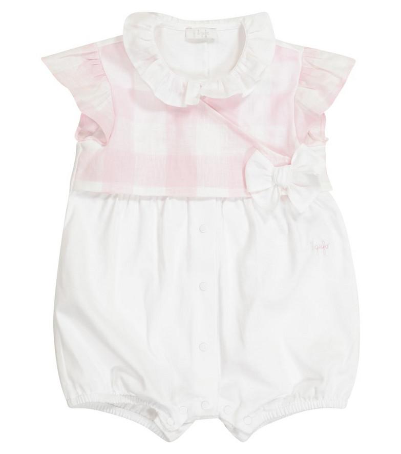 Il Gufo Baby cotton romper in white