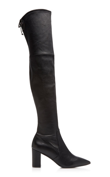 Stuart Weitzman Lesley Leather Boots in black