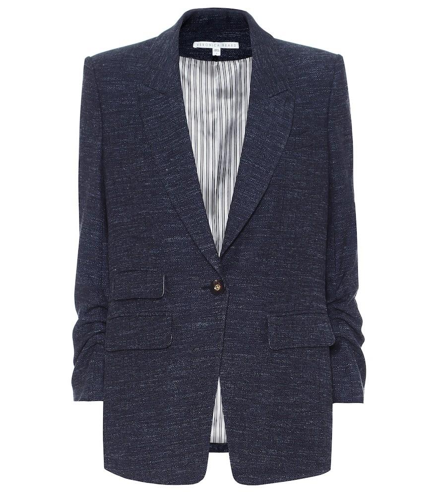 Veronica Beard Martel Dickey wool-blend blazer in blue
