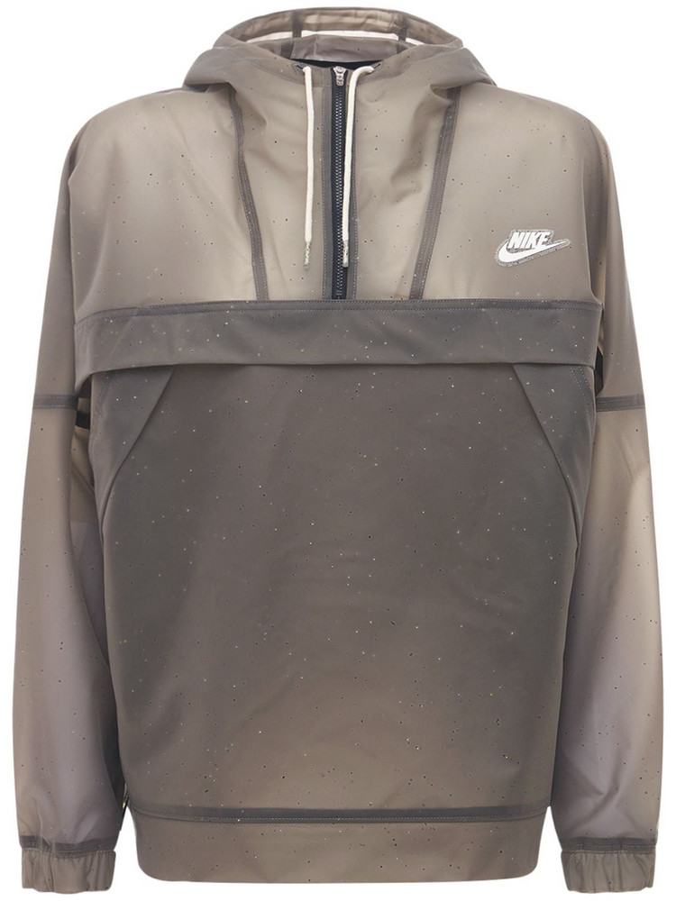 NIKE Earth Day Hooded Anorak in taupe