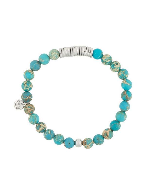 Tateossian beaded disc-detail bracelet in blue
