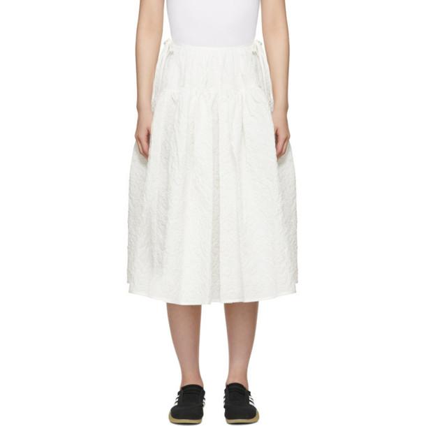Cecilie Bahnsen White Rosie Skirt