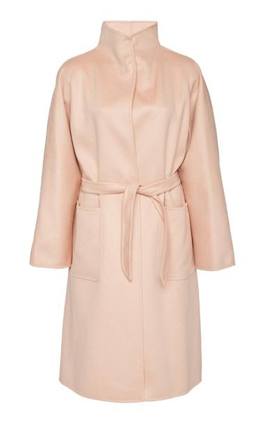 Max Mara Lillia Cashmere Wrap Coat Size: 6 in pink