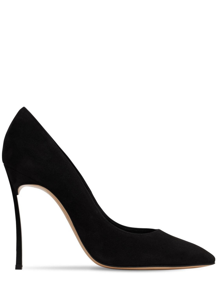 CASADEI 100mm Blade Suede Pumps in black